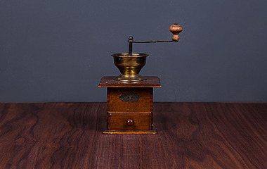 Antique coffee bean grinder 01